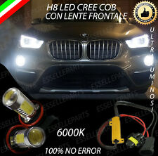 COPPIA LAMPADE FENDINEBBIA H8 LED CREE COB CANBUS BMW X1 F48 NO ERRORE