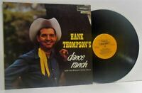HANK THOMPSON dance ranch  LP EX/EX, HAT 3027, vinyl, album, country, reissue,