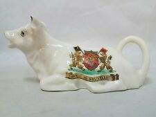 RARE VINTAGE COW CREAMER Cream Pitcher Brussels Belgium Lion Coat of Arms