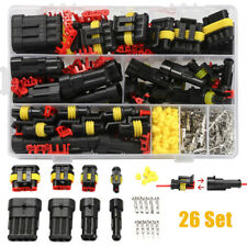 26pcs 1-4 Pin Way Waterproof Car Electrical Wire Connector Plug Cable Terminal