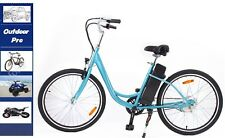 350w 26 Embly In Usa Yukon Trail Electric Bicycle Sky Blue Beach Cruiser Eco