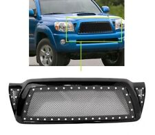 05 11 Toyota Tacoma Hood Rivet Black Stainless Steel Wire Mesh Grille W/ Shell