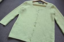 Jeanne Pierre (TK Maxx) Cotton Cable Cardigan Sweater Knitwear Knit Top M Green