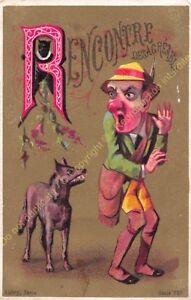 chromo illustration AUBRY PARIS humour Alphabet lettre R