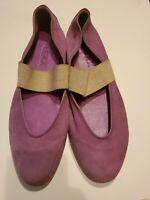The Flexx By Vera Pelle Womens Ballet Flat Shoes Black Elastic Strap Slip Ons 9