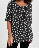 Evans ladies blouse top plus size 14 18 daisy print crochet trim relaxed fit