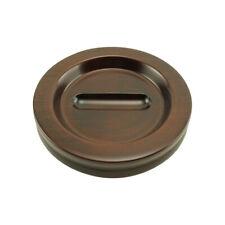 Wood Piano Caster Cups - Medium Size - Mahogany Satin