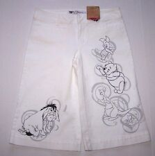 NWOT Disney Winnie Pooh Capri Cropped Pants Capris Crop Jeans Cotton Women 12