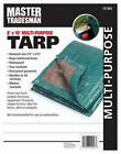 Polyethylene Tarp, Green/Brown, 8 x 10-Ft.