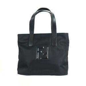 Vintage Fendi Nylon Black FF Mini  Hand Bag.NFV6613