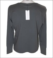 BNWT MEN'S SUPERFINE LONG SLEEVED T SHIRT LARGE DARK GREY NEW RRP£90