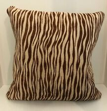 "GENUINE HIDE FUR CUSHION / PILLOW - 16.5"" X 16.5""  brown & cream"