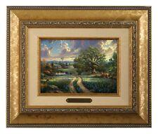 Thomas Kinkade Country Living 5 x 7 Framed Brushwork (Gold Frame)