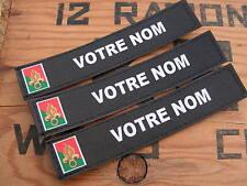 Bande patronymique NOIRE + legion  ETRANGERE .. LoT de 3 patro PERSONNALISABLE