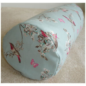"""Round Bolster Bird Cylinder Neck Roll Cushion Cover Pink Blue Butterfly 16""""x6"""""""