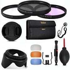 40.5mm 3 FILTER KIT+LENS HOOD + LENS CAP + FLASH DIFFUSER FOR SONY ALPHA A6000
