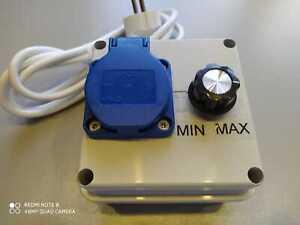 Hochleistungsregler/ Drehzahlregler 4000 Watt 230Volt max. 25 Ampere Analog