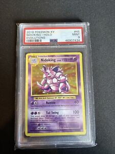 Nidoking 45/108 Holo Evolutions Rare PSA 9 MINT Pokemon Card