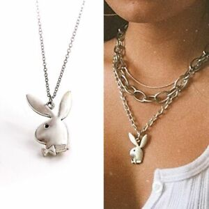 Rabbit Charm Necklaces Funny Animals Pendant Necklace Man Collar Women's Jewelry