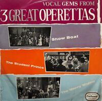 Vocal Gems From 3 Great Operettas Vinyl LP.1961 Embassy WLP 6016.Merry Widow+