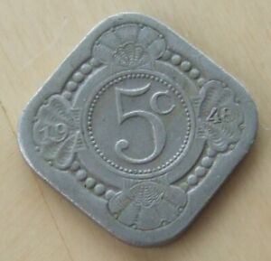 1948 Curacao 5 cents coin