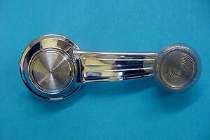 Fits Chevrolet GM Chrome Manual Door Window Crank Handle Roller Clear Knob NOS R