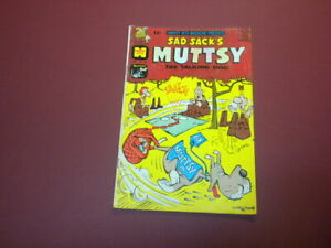 SAD SACK'S - MUTTSY THE TALKING DOG #108 Harvey Hits Comic 1966 cartoons