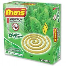 Kayari Mosquito repellent herbal Thai botanical  as lemongrass.(10 coils/pack)