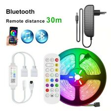 LED Streifen/Stripe 10M, Bluetooth, Music Sync, Remote, mit Netzteil, LED 5050