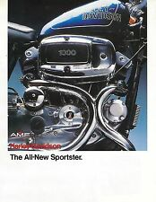 """SPORTSTER """"NEW OLD STOCK"""" 1979 FACTORY COLORED ADVERTISMENT #93785-79A"""