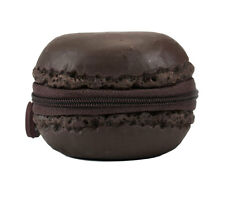 Scented Chocolate Brown Macaron Cookie Zipper Coin Purse