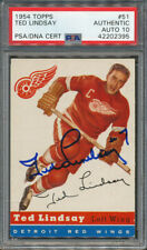 1954/55 Topps #51 Ted Lindsay PSA/DNA Certified Authentic Signed *2395