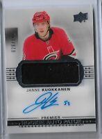 Janne Kuokkanen 2017-18 UD Premier Hockey Rookie auto Patch 26/299
