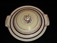 Johnson Bros OLD ENGLISH Round COVERED VEGETABLE DISH BOWL Blue Gold Floral