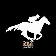 THOROUGHBRED HORSE RACING vinyl sticker sport Stakes Flat Race Jockey