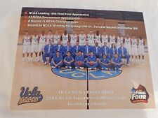 UCLA Bruins Basketball NCAA 2008 Final Four MEDIA GUIDE! NEW! NEVER OPENED!!
