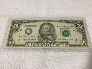 $50.00 US Currency Lot (3).... 85, 88, 90, ... very clean