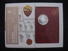 SAN MARINO 2017 moneta 10 EURO argento 90° anniversario A.S. ROMA CALCIO FDC BU