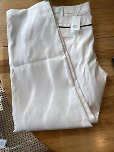 Tory Sport By Tory Burch Tech Twill Golf Pants IVORY/ Pink Blue StripeSz 14 $198