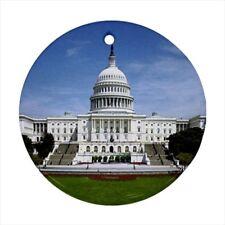 White House Washington Dc Usa Round Porcelain Ornament - Holiday Seasons