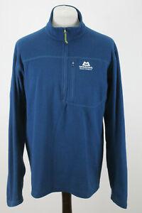 MOUNTAIN EQUIPMENT Blue Fleece Half Zip Jumper size L