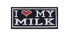 I love my Milk Biker heavy rocker Patch Patch sotana motocicleta badge Stick imagen