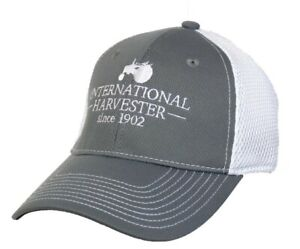 IH Youth Embroidered Tractor Logo Grey & White Mesh Flex Fit Cap