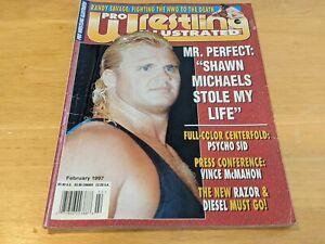MR. PERFECT CURT HENNING PWI Pro Wrestling Illustrated Magazine Feb 1997 HBK WWF