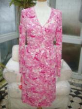 Escada pink wrap jersey dress 40 EU 14 UK NEW black SILVER label