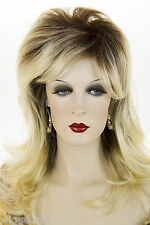 Toast Brown with Pale Blonde Tips Long Medium Wavy Straight Wigs