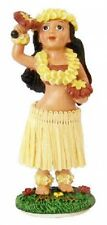 "New Hawaiian Hawaii souvenir Mini Dashboard Hula Doll Girl w/ Uli uli 4"" #40759"