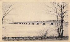 Antique POSTCARD c1930 Victoria Bridge MONTREAL, QUEBEC CANADA