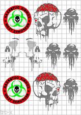 TRC8079 RC Body Paint Mask Zombie Response Team 1 R/C Hobby Air Brush