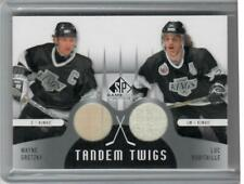 13-14 2013-14 SP GAME USED WAYNE GRETZKY LUC ROBITAILLE TANDEM TWIGS STICK